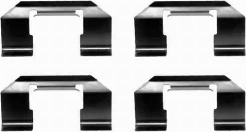 HELLA 8DZ 355 202-491 - Piederumu komplekts, Disku bremžu uzlikas interparts.lv