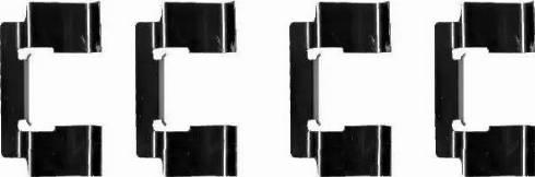 HELLA 8DZ 355 202-741 - Piederumu komplekts, Disku bremžu uzlikas interparts.lv