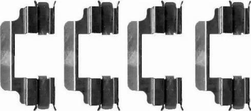 HELLA 8DZ 355 202-711 - Piederumu komplekts, Disku bremžu uzlikas interparts.lv