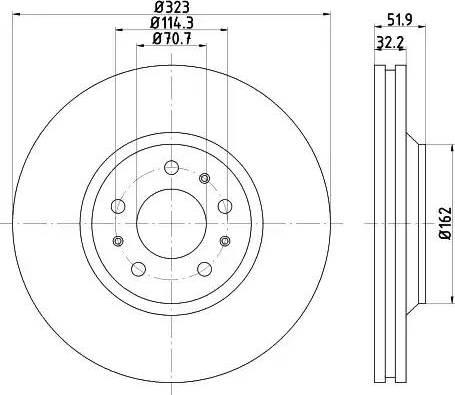 HELLA PAGID 8DD 355 120-251 - Bremžu diski interparts.lv