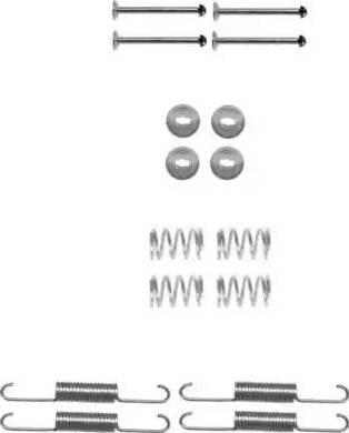HELLA PAGID 8DZ 355 201-991 - Piederumu komplekts, Stāvbremzes mehānisma bremžu loks interparts.lv