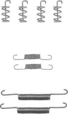 HELLA PAGID 8DZ 355 201-851 - Piederumu komplekts, Stāvbremzes mehānisma bremžu loks interparts.lv