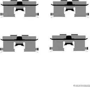 Herth+Buss Jakoparts J3660902 - Piederumu komplekts, Disku bremžu uzlikas interparts.lv