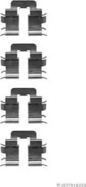 Herth+Buss Jakoparts J3661018 - Piederumu komplekts, Disku bremžu uzlikas interparts.lv