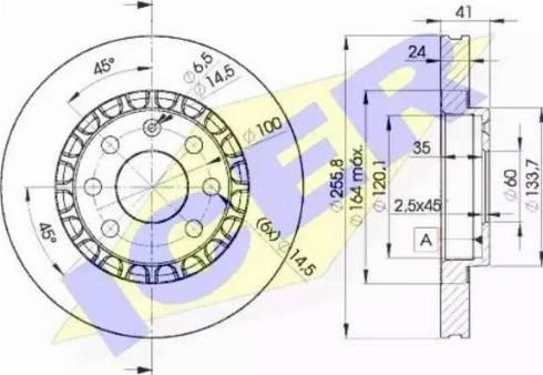 Icer 78BD9042-2 - Bremžu diski interparts.lv
