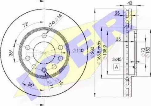 Icer 78BD9060-2 - Bremžu diski interparts.lv