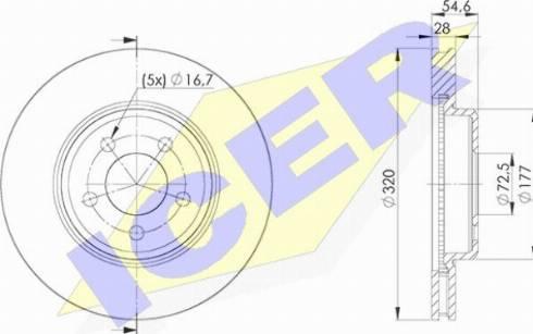 Icer 78BD9196-2 - Bremžu diski interparts.lv