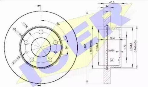 Icer 78BD4681-2 - Bremžu diski interparts.lv