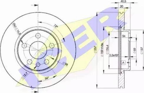 Icer 78BD4683-2 - Bremžu diski interparts.lv