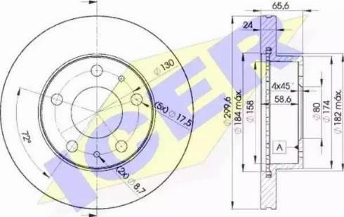 Icer 78BD4682-2 - Bremžu diski interparts.lv