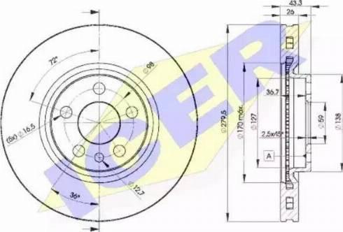 Icer 78BD4620-2 - Bremžu diski interparts.lv