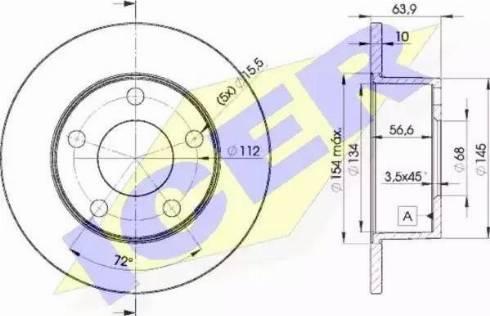 Icer 78BD4060-2 - Bremžu diski interparts.lv