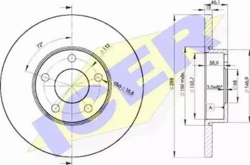 Icer 78BD4061-2 - Bremžu diski interparts.lv