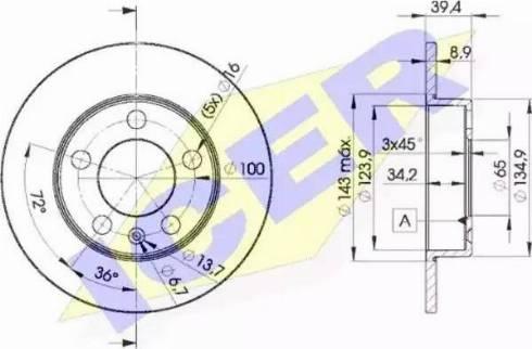 Icer 78BD5601-2 - Bremžu diski interparts.lv