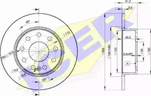 Icer 78BD5616-2 - Bremžu diski interparts.lv