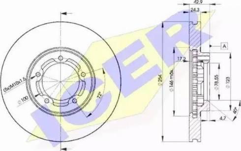 Icer 78BD5610-2 - Bremžu diski interparts.lv