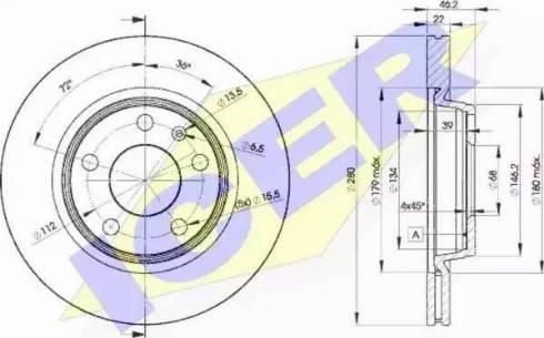 Icer 78BD5301-2 - Bremžu diski interparts.lv