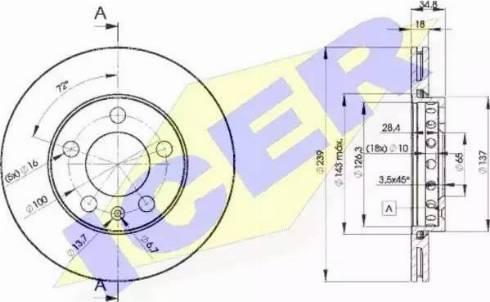 Icer 78BD5308-2 - Bremžu diski interparts.lv