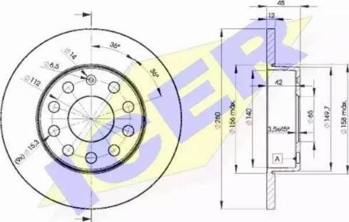 Icer 78BD5310-2 - Bremžu diski interparts.lv