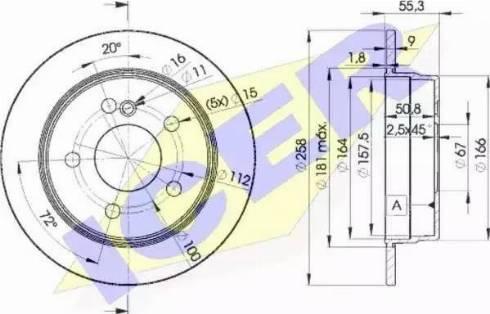 Icer 78BD6470-2 - Bremžu diski interparts.lv