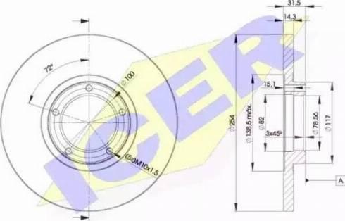 Icer 78BD6055-2 - Bremžu diski interparts.lv