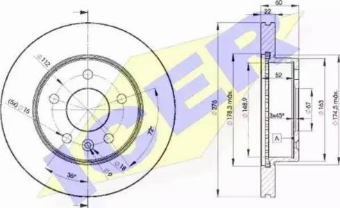 Icer 78BD6380-2 - Bremžu diski interparts.lv