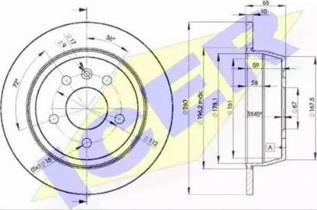 Icer 78BD6381-2 - Bremžu diski interparts.lv