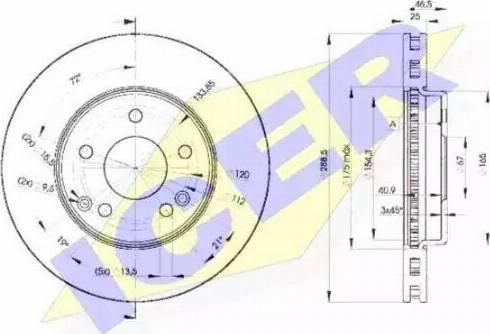 Icer 78BD0410-2 - Bremžu diski interparts.lv