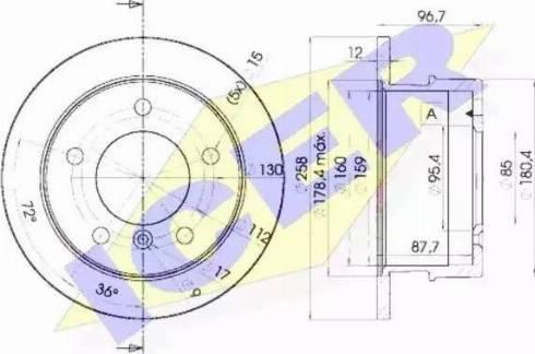 Icer 78BD0184-1 - Bremžu diski interparts.lv