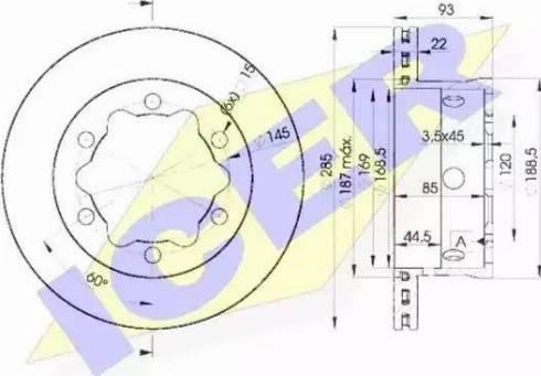 Icer 78BD0185-1 - Bremžu diski interparts.lv