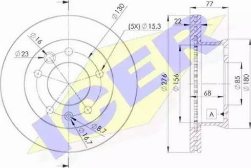 Icer 78BD0181-1 - Bremžu diski interparts.lv