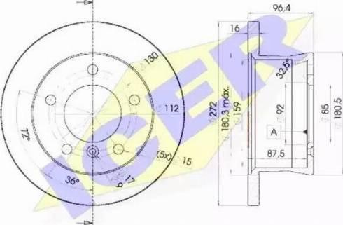 Icer 78BD0183-1 - Bremžu diski interparts.lv