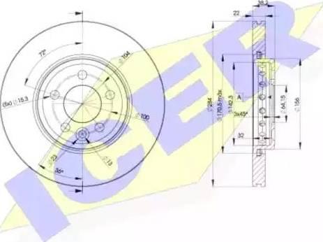 Icer 78BD0844-2 - Bremžu diski interparts.lv
