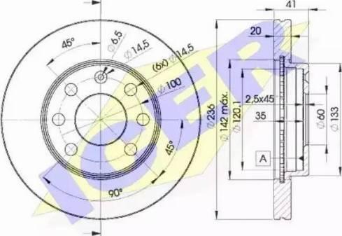 Icer 78BD1440-2 - Bremžu diski interparts.lv