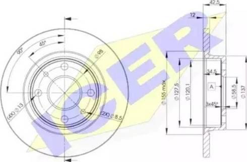Icer 78BD1071-2 - Bremžu diski interparts.lv