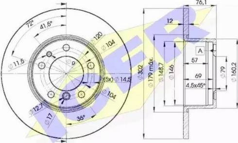 Icer 78BD8042-1 - Bremžu diski interparts.lv