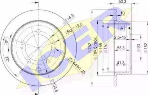 Icer 78BD8326-2 - Bremžu diski interparts.lv