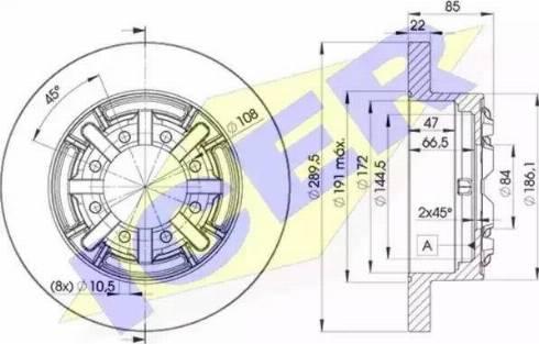 Icer 78BD8773-1 - Bremžu diski interparts.lv