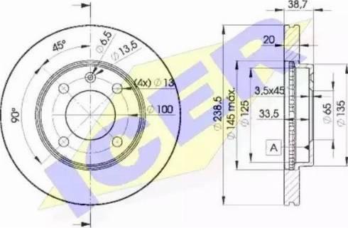 Icer 78BD3975-2 - Bremžu diski interparts.lv