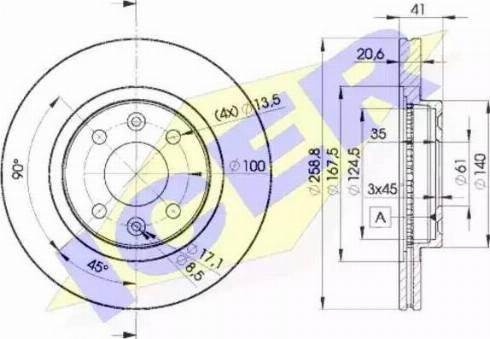 Icer 78BD3550-2 - Bremžu diski interparts.lv