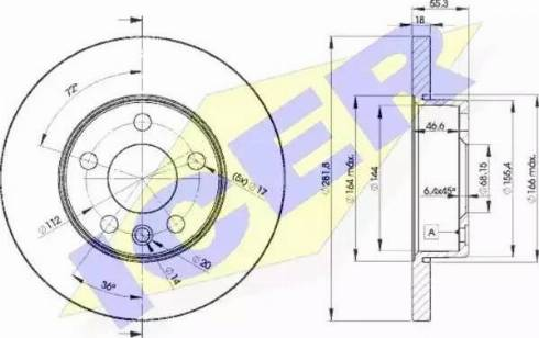Icer 78BD3018-2 - Bremžu diski interparts.lv