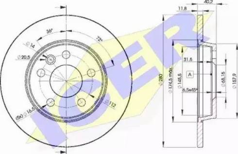 Icer 78BD3111-2 - Bremžu diski interparts.lv