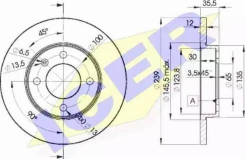Icer 78BD3300-2 - Bremžu diski interparts.lv