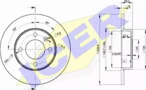 Icer 78BD3325-2 - Bremžu diski interparts.lv