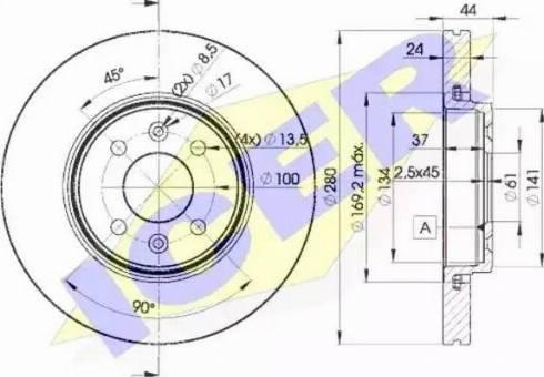 Icer 78BD7829-2 - Bremžu diski interparts.lv