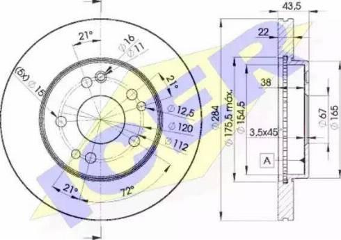 Icer 78BD7200-2 - Bremžu diski interparts.lv