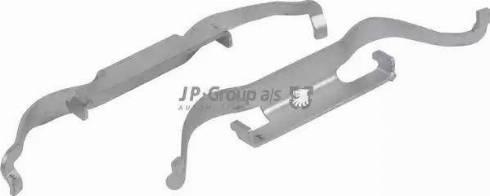 JP Group 1163650910 - Piederumu komplekts, Disku bremžu uzlikas interparts.lv