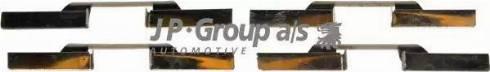 JP Group 1163650610 - Piederumu komplekts, Disku bremžu uzlikas interparts.lv