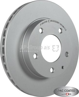 JP Group 3863101600 - Bremžu diski interparts.lv