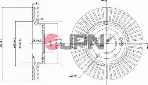 JPN 30H0324-JPN - Bremžu diski interparts.lv